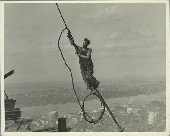 Biblioteca Pública de Nueva York. Construcción del Empire State:
