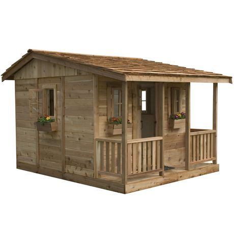 Cedar playhouse cozy cabin and playhouses for sale on Outdoor playhouse for sale used