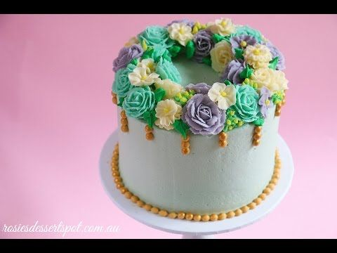 Floral Wreath Cake Tutorial - YouTube