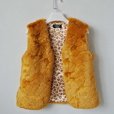 Fur Vest With Nice Collarless In Faux Fur Casual/Party Vest(More Colors) – USD $ 18.99