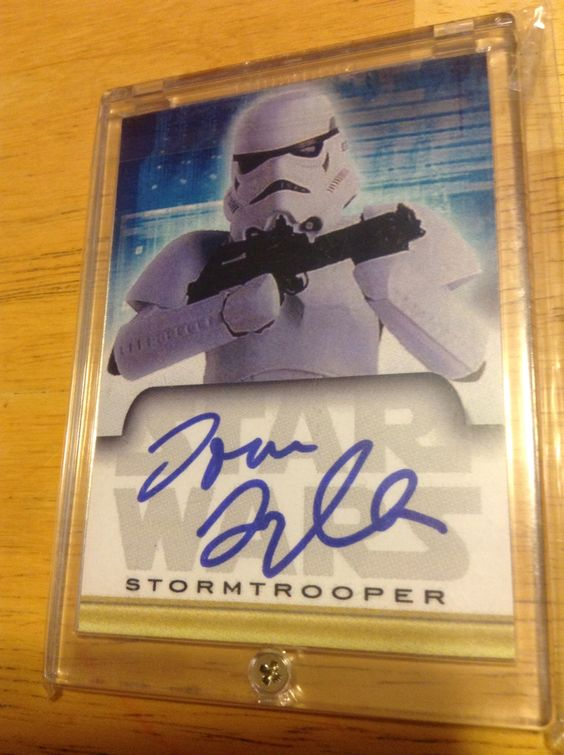 Tom Sylla Star Wars Autographed Card