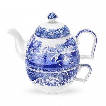 Spode Blue Italian Tea-for-One set -Spode UK