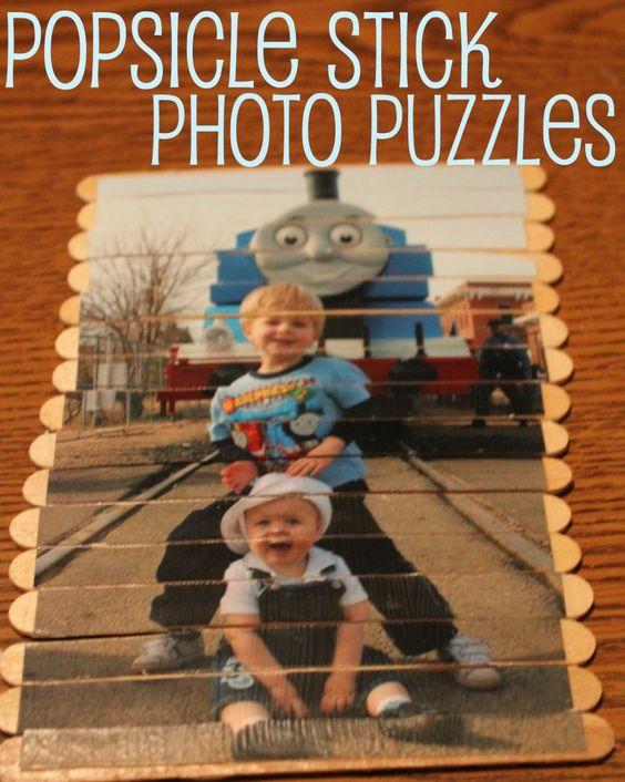 Popsicle Stick Puzzles: