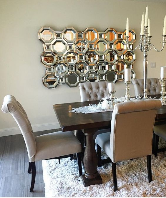 Floor mirrors floors and dining rooms on pinterest for Dining room z gallerie