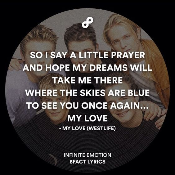 My love by #westlife #8fact #8factlyrics by 8factlyrics