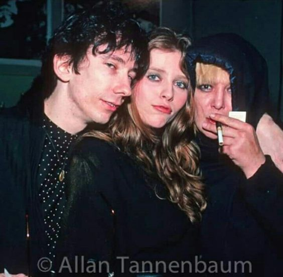 Stiv Bators, Be be Buell and Anita, NYC, New Years Eve, 80