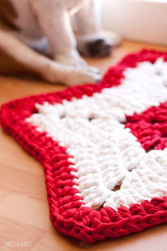 Tutorial de alfombra de ganchillo xxl navide a con forma de estrella trapillo totora - Tutorial alfombra trapillo ...