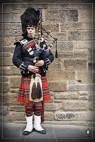Scottish in Kilt with Bagpipe by M B A Khan, via Flickr