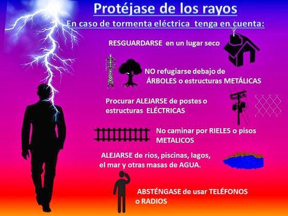 Protegerse de los rayos, vía @guardiacivil