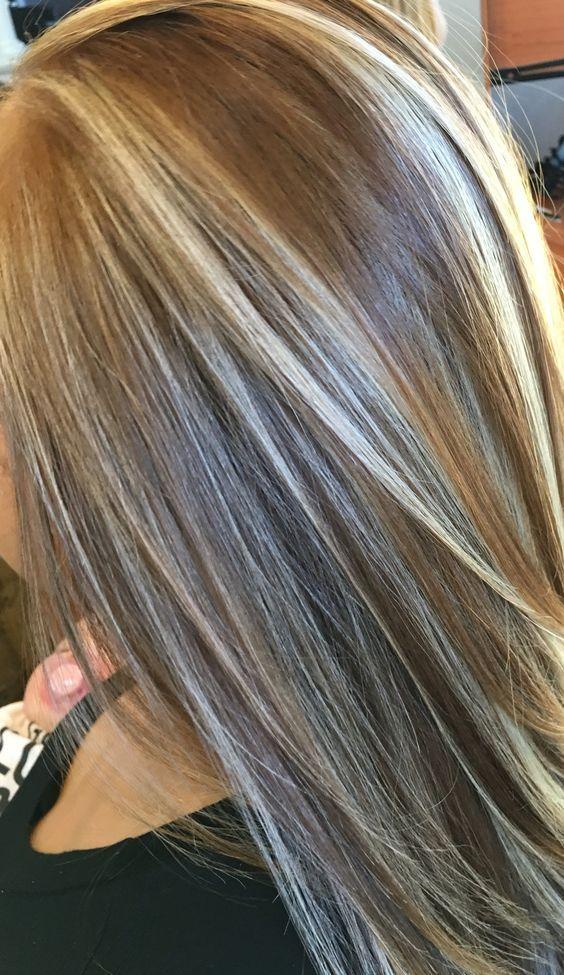 Dark Blonde Straight Hair With Highlights Straight Hair