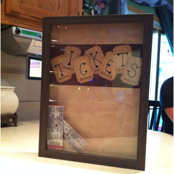 I like this - may be my project for the day :)  a place to store all the ticket stubs you aquire over the years!
