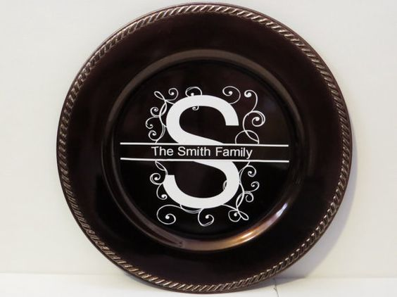 Personalized Family Charger Plate Custom Wedding Gift