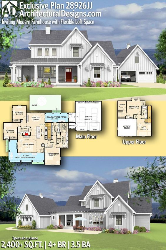 16++ Farmhouse plans with inlaw suite info
