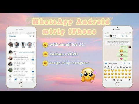 Update Cara Terbaru Ubah Whatsapp Android Jadi Iphone 2020 Youtube Iphone Android Pesan