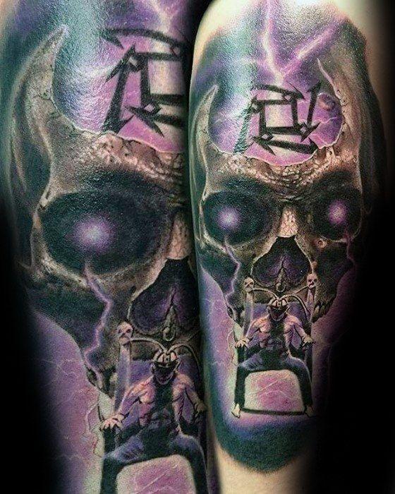 60 Metallica Tattoos Designs For Men Heavy Metal Ink Ideas Metallica Tattoo Tattoo Designs Men Tattoo Designs