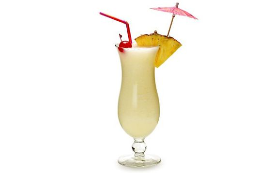 Piña Colada    INGREDIENTS  2 oz dark rum  2 oz pineapple juice  1½ oz coconut cream    INSTRUCTIONS  Shake over ice and strain over ice into chilled collins glass. Garnish with a cherry and pineapple cube.