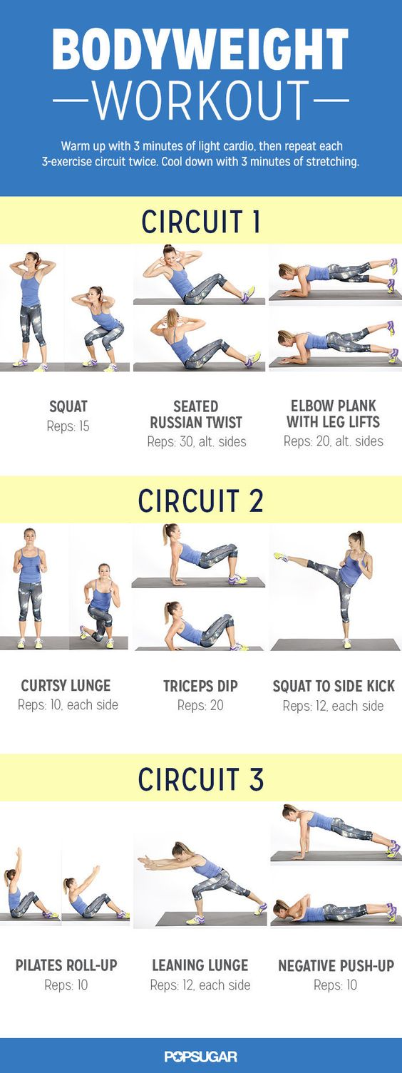 Bodyweight Workout For Women   POPSUGAR Fitness