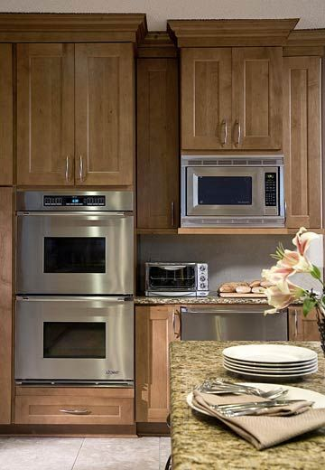 Ideas For Built In Wall Ovens And Microwaves Wooden
