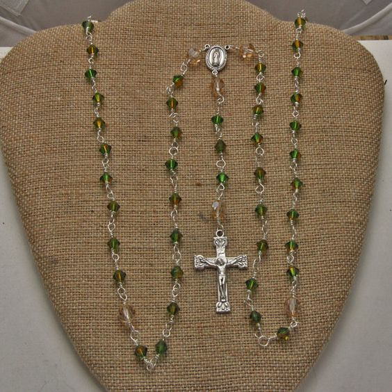 Handmade Sterling and SWA Crystal Rosary with by oscarcrow on Etsy, $48.00