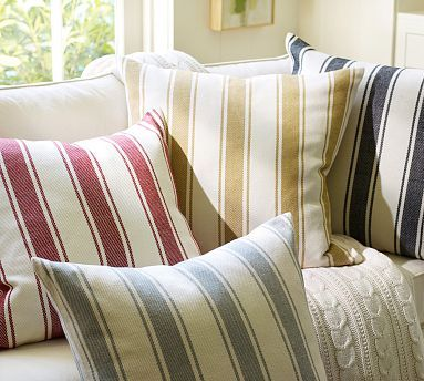 Chunky Stripe Pillow Cover #potterybarn