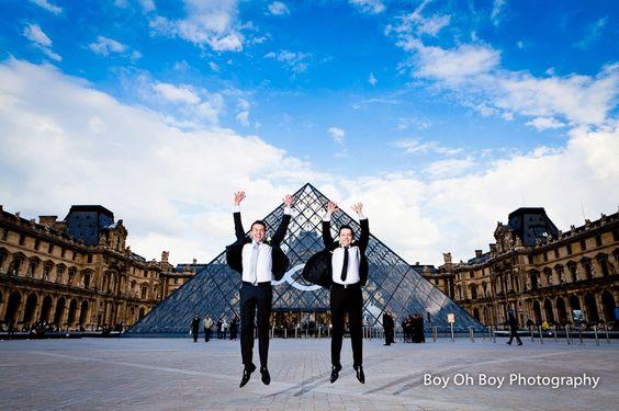 Sam and Jordans's Civil Partnership in #London and #Paris  #GayWedding #CivilPartnership #Love #EqualMarriage #Jump 20