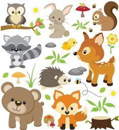 Wandsticker Waldtiere Kinderzimmer Wandtattoo Deko Tiere Etsy Wandtattoo Waldtiere Wandtattoo Waldtiere