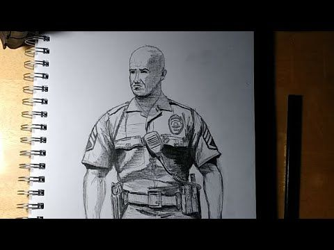 How To Draw A Realistic Police Officer Youtube Police Police Officer Realistic Drawings