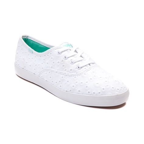 white eyelet keds shoes