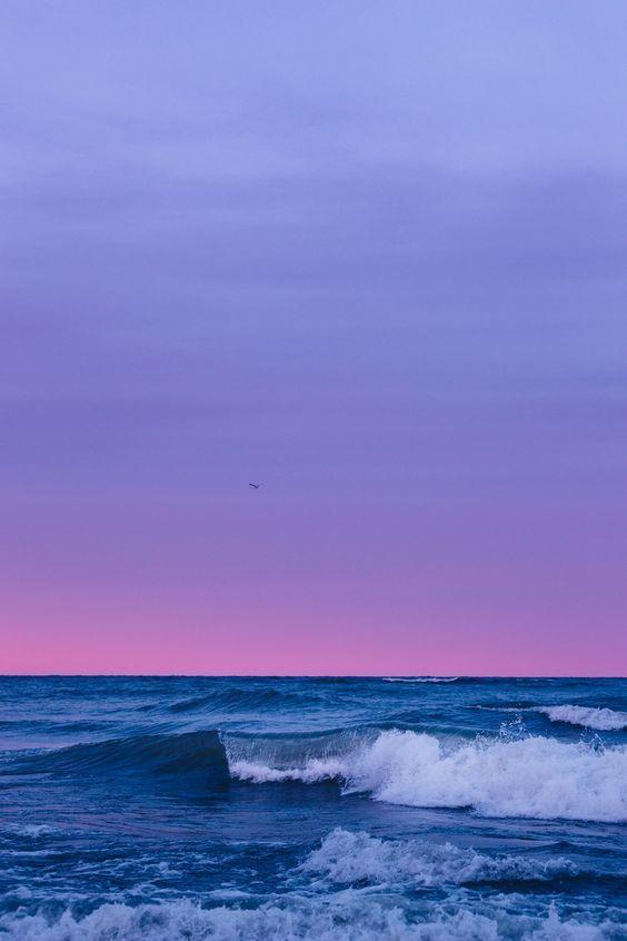 Purple Aesthetic Purple Pink Inspiration Neon Colors Neon Cities City Light Purple Wal In 2020 Landscape Wallpaper Landscape Background Ocean Wallpaper
