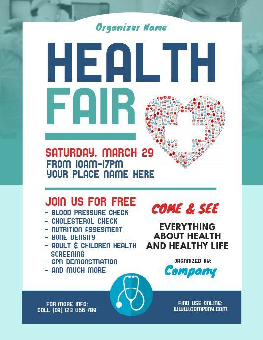 Health Fair Flyer Template Health Fair Flyer Template Free Flyer Template