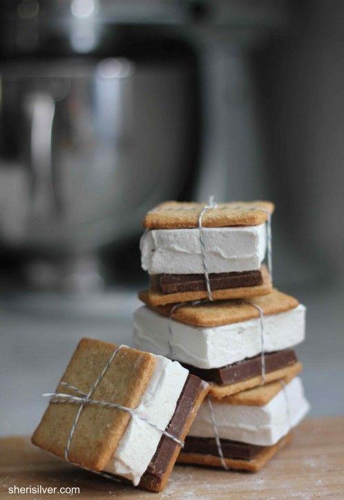 *homemade grams, homemade marshmallows, homemade smores