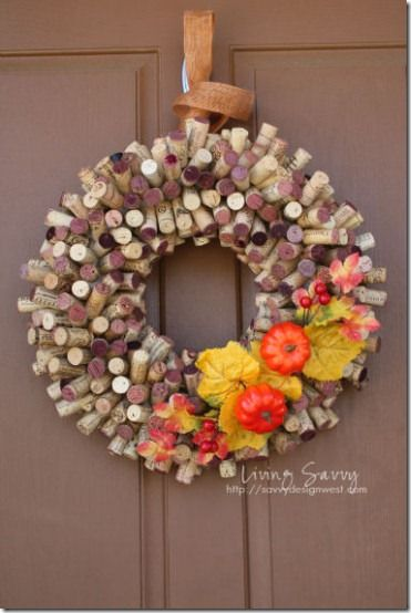 cork wreath #cork