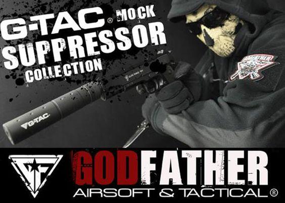 G-Tac Mock Suppressors At Godfather Airsoft