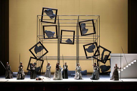 Die Walkure. Teatro San Carlo. Scenic design by Giulio Paolini. 2004