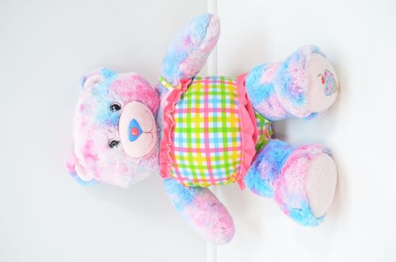 BUILD A BEAR Plush BUBBLE GUM ICE CREAM Teddy BASKIN ROBBINS Pink Blue Cherry #BuildABear