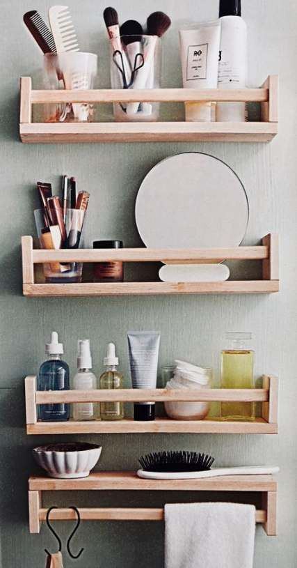 50 Ideas Bathroom Vanity Storage Ideas Makeup Organization In 2020 Bathroom Vanity Storage Small Bathroom Storage Vanity Storage