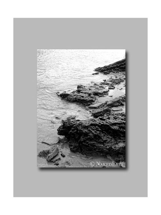 Hawaii landscape beach photography. Black and white. by NakedEyes