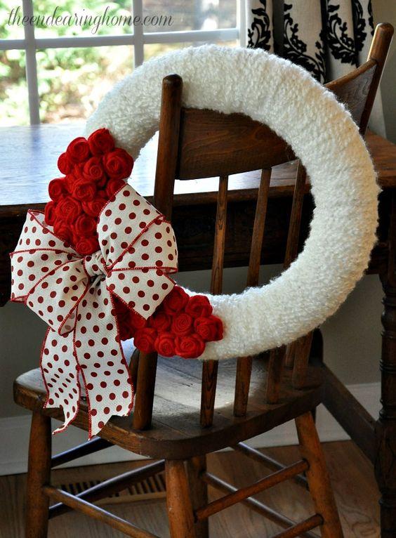 Polka+Dot+Valentine+Wreath