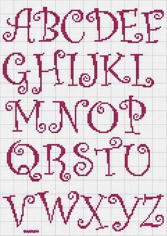 Grilles Alphabet Alphabet De Broderie Alphabet Point De Croix Elephant Point De Croix