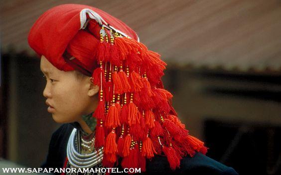 The Red Dao minoritaire dans Sapa. Vietnam. Dao est le nom que les Vietnamiens donnent au peuple Yao.