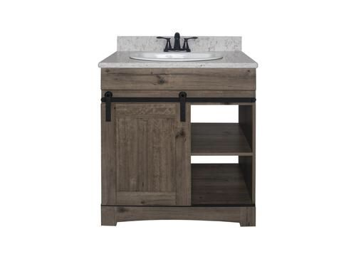 Dakota 30 W X 21 D Sliding Barn Door Vanity At Menards Bathroom Vanity Vanity Diy Bathroom Vanity