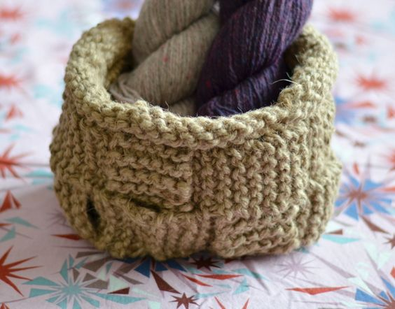 knitted twine basket - Make Ready
