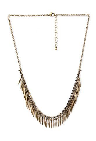 NEW ARRIVALS   WOMEN   Forever 21 - Arrowhead Fringe Necklace