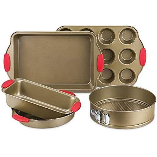 Bakeware Set Kitchen Komforts 5 Piece Non Stick Baking Pan Set