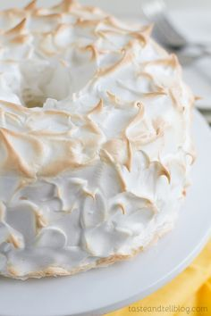 Lemon Meringue Angel Cake by tasteandtell #Cake #Lemon #Meringue