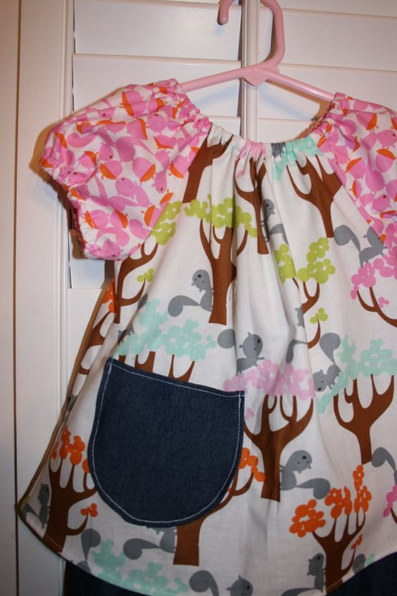 Sale saleSquirreles and Trees in Sorbet Peasant by JellyPopChick, $20.99