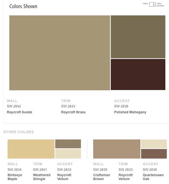 Sherwin williams craftsman exterior color schemes for Craftsman exterior color schemes