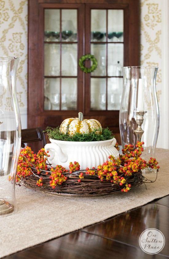 Thanksgiving fall centerpiece ideas centerpieces