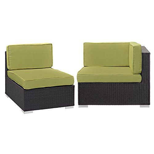 Convene Corner and Middle Outdoor Patio Sectional Set