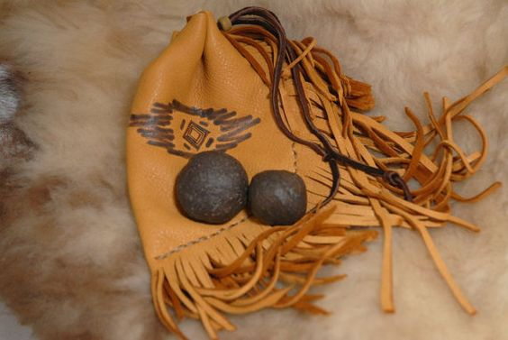 Moqui Marbles Shaman Stones with tribal by HollyHawkDesigns: